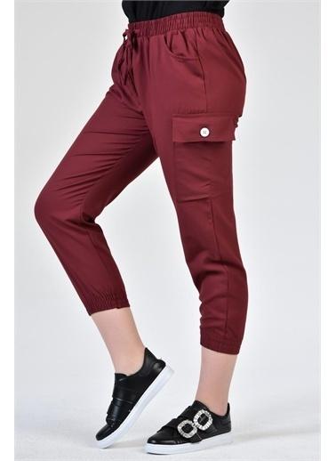 Rodi Jeans Kadın Jogger Kargo Cepli Airobinli Pantolon DS21YB015591 Bordo